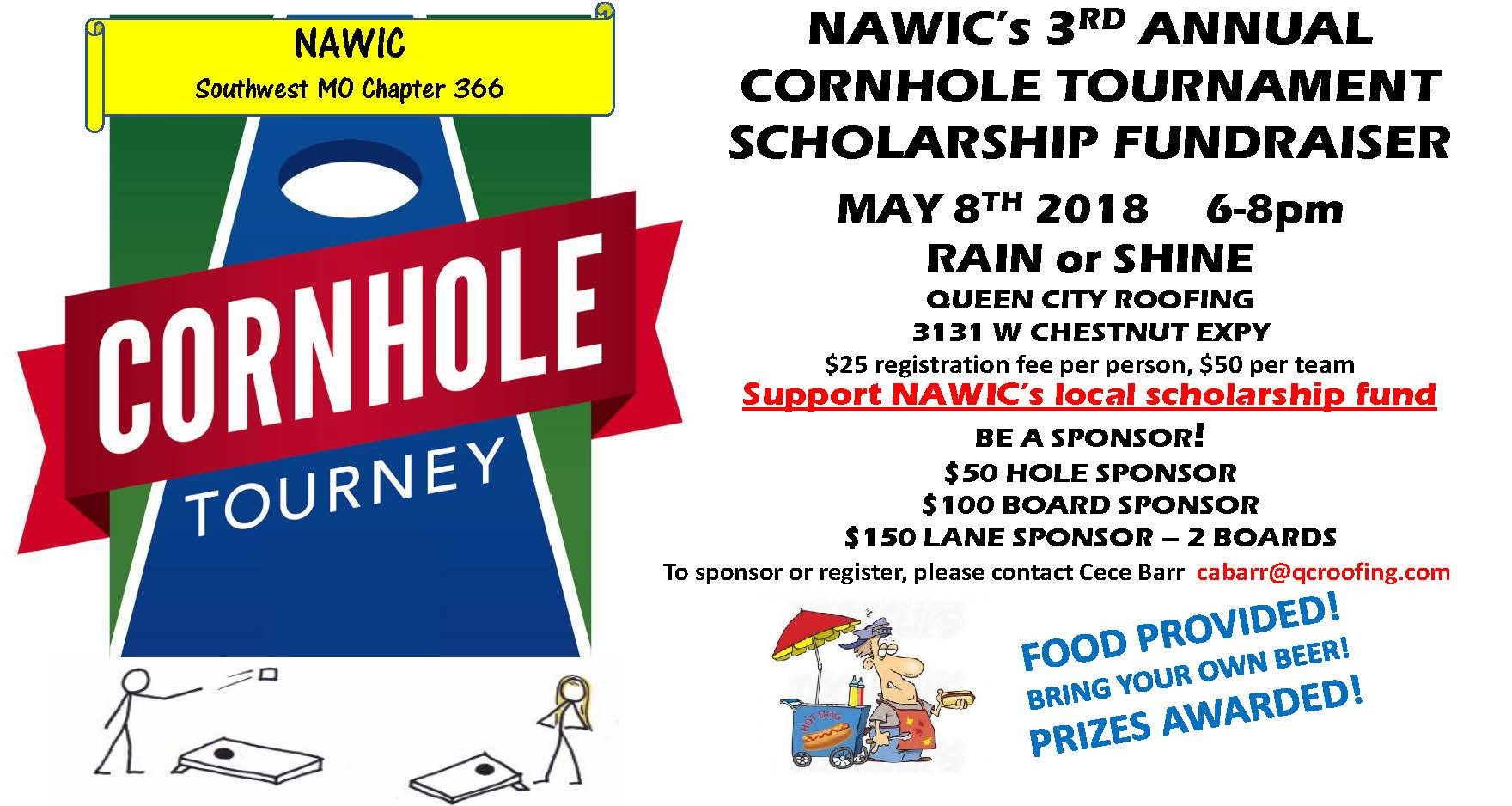 nawic southwest missouri chapter cornhole tournament 2018